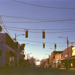 Downtown Siler City, North Carolina taken on expired film