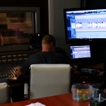 Music video being shot at the Red Squared Audio recording studio