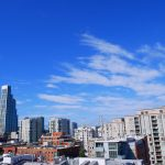 San Francisco buildings and blue sky