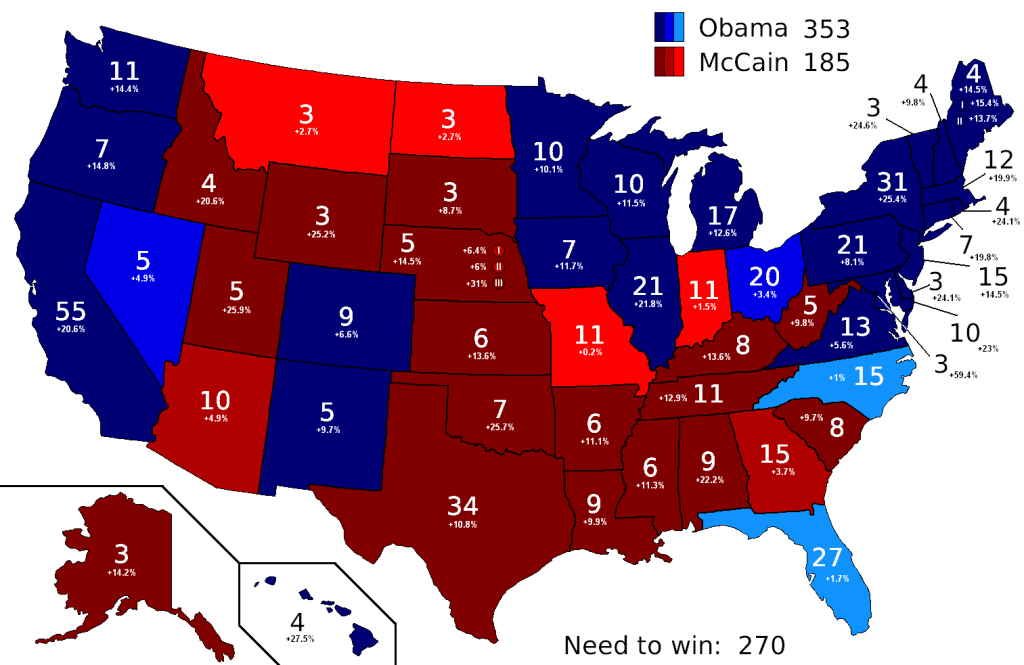 Win 38 cities and you become President; or, why the electoral college matters