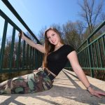 The talented Brittany Davis on the coolest bridge