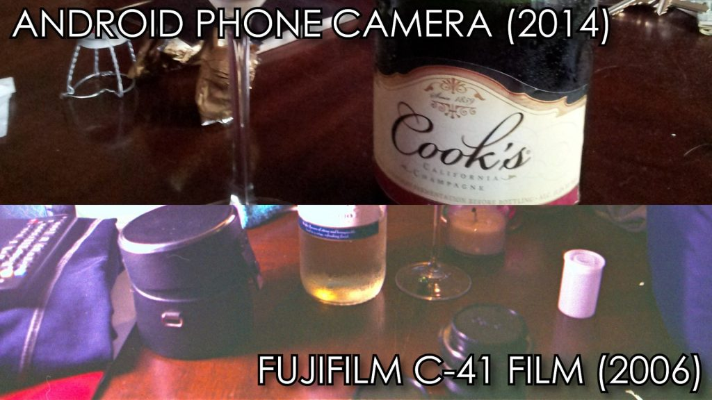 Comparison of brown color reproduction between film and digital camera